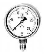 WIKA Safety Pattern Version Pressure Gauges Model 232.30/233.30