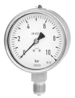 WIKA All Stainless Steel Pressure Gauge Model 232.50/233.50