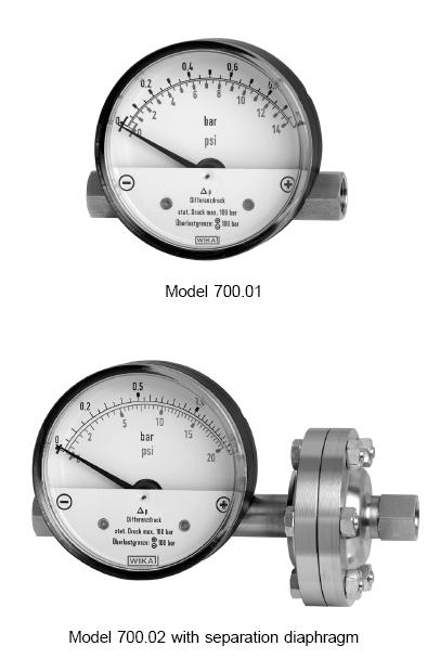 Differential Pressure Gauges Model 700.01 / 700.02